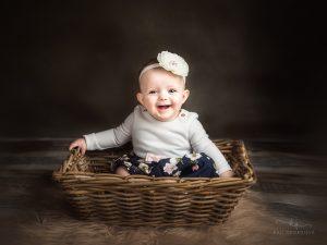 бебешка фотосесия, седящи бебета, на шест месеца