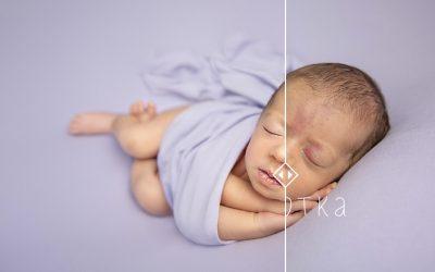 Как се прави бебешка фотосесия на новородено: Как се обработват снимките